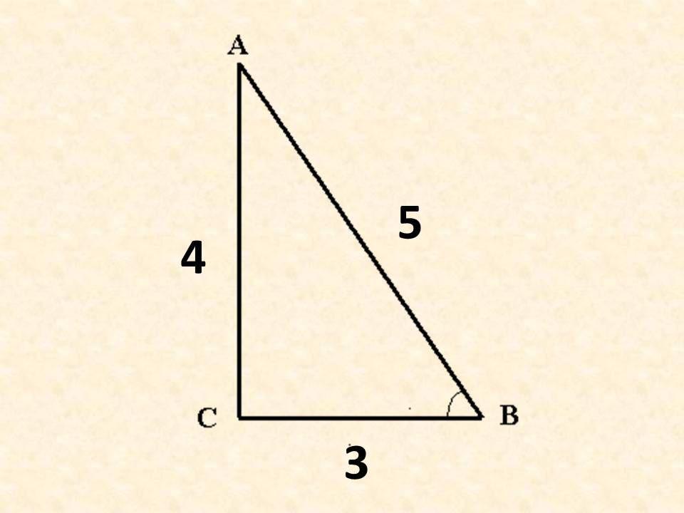 Измерения и построение углов при проведении различных  работ. Золотой египетский треугольник.