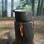 Индейская свеча или деревянный примус — свеча. Костер в рюкзаке. Как приготовить пищу в походе.