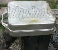 Ремонт алюминиевой канистры для бензина. Как выправить мятую металлическую канистру.