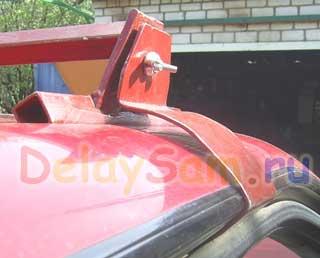 Самодельный автомобильный багажник для иномарки за 100 рублей. Как самому сделать автобагажник.