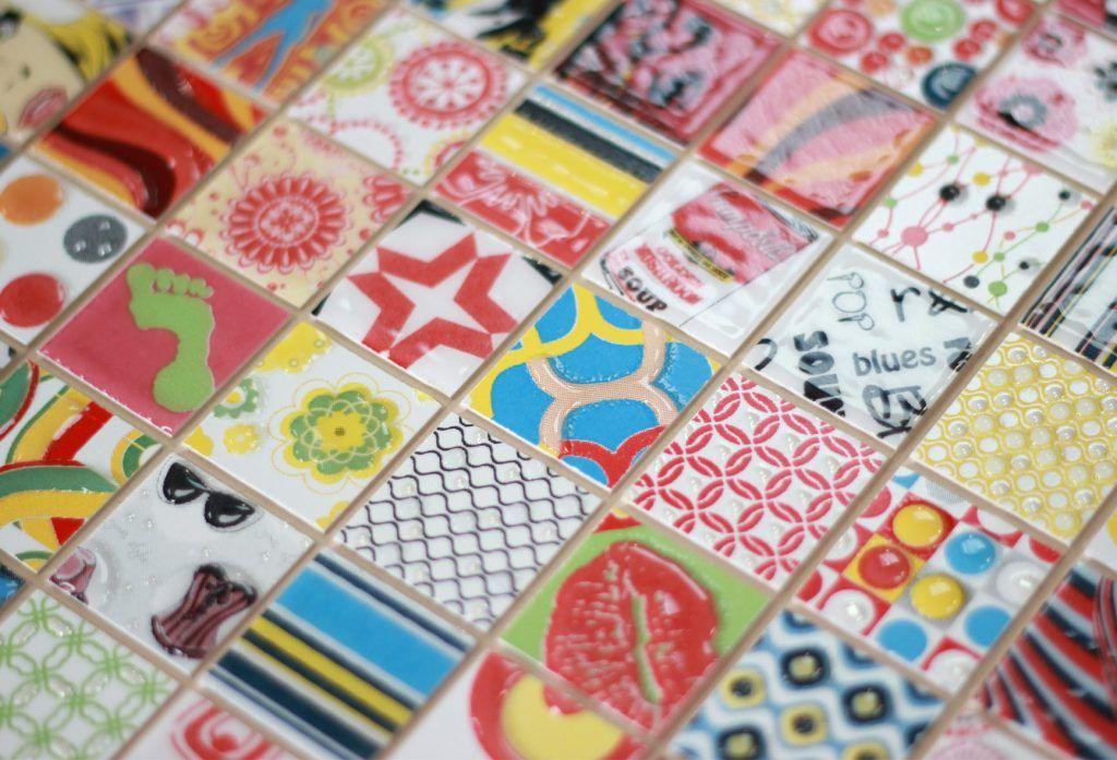 Самодельная плитка мозаика. Как сделать мозаичную плитку самостоятельно. Изготовление мозаики.