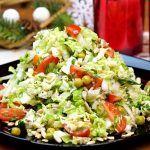Авторский салат из пекинской капусты «Восторг»! Идеальный рецепт легкого салата без майонеза!