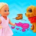 Барби узнала про щенка Штеффи — Игры Барби для девочек — Видео с куклами
