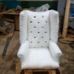 DIY стул честер или ушастое кресло своими руками.