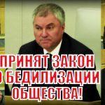 Володин в шоке: Закон «о дебилизации общества» даже не все ЕДРОСЫ поддержали!