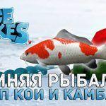 Зимняя рыбалка. Карп Кои и Камбала — Ice Lakes #11