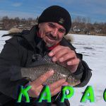 Зимняя рыбалка в Украине. Ловля карася на удочку с поплавком.