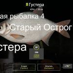 Русская рыбалка 4 — озеро Старый Острог — Густера