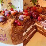 Шоколадный блинный торт «Черный лес» | Очень эффектный!