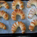 Домашние пуховые рогалики.Постный рецепт теста для домашней выпечки