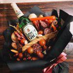 Как своими руками сделать праздничный съедобный букет для мужчины?