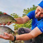 Ловля леща на фидер на канале им Москвы возле города Дубна